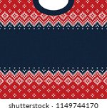 ugly sweater merry christmas... | Shutterstock . vector #1149744170