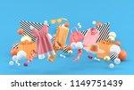 dresses  pants  sweatshirts ... | Shutterstock . vector #1149751439