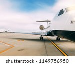 private luxury jet at the... | Shutterstock . vector #1149756950