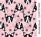 cute kids dog pattern for girls ... | Shutterstock .eps vector #1149757496