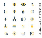 human resources icon set.... | Shutterstock .eps vector #1149758123