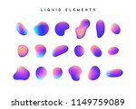 gradient iridescent shapes. set ... | Shutterstock .eps vector #1149759089