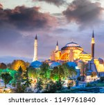 hagia sophia at night  istanbul ... | Shutterstock . vector #1149761840