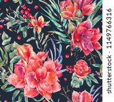watercolor floral seamless... | Shutterstock . vector #1149766316
