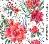 watercolor floral seamless... | Shutterstock . vector #1149766319