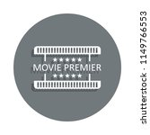 movie premiere icon in badge...