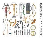 throwing weapon vector sharp... | Shutterstock .eps vector #1149767363