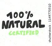 100  natural certified. sticker ...   Shutterstock .eps vector #1149770510