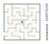 simple maze with path solution | Shutterstock .eps vector #1149773729