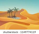 landscape of desert with sand... | Shutterstock .eps vector #1149774119