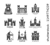set of isolated castle parts... | Shutterstock .eps vector #1149774239