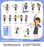 a set of women on inferiority... | Shutterstock .eps vector #1149778100
