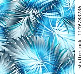 tropical palm leaves  jungle .... | Shutterstock .eps vector #1149783236