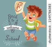 welcome to school poster | Shutterstock .eps vector #1149786383