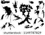 hand drawn set of black ink... | Shutterstock .eps vector #1149787829