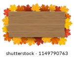 empty wooden sign with space... | Shutterstock .eps vector #1149790763
