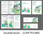 set of color abstract brochure... | Shutterstock .eps vector #1149791480