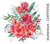 watercolor floral template card ... | Shutterstock . vector #1149793436