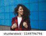 young happy caucasian girl...   Shutterstock . vector #1149796796