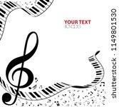 black and white music... | Shutterstock .eps vector #1149801530