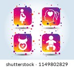 maternity icons. baby infant ... | Shutterstock .eps vector #1149802829