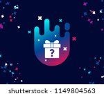 gift box with question mark... | Shutterstock .eps vector #1149804563
