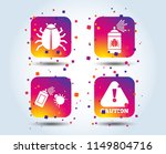 bug disinfection icons. caution ... | Shutterstock .eps vector #1149804716