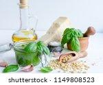 pesto genovese   traditional... | Shutterstock . vector #1149808523