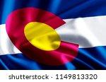 colorado 3d waving and closeup... | Shutterstock . vector #1149813320