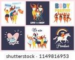 feminism body positive cards ...   Shutterstock .eps vector #1149816953
