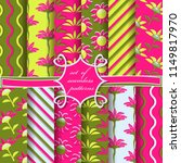 set of seamless vector... | Shutterstock .eps vector #1149817970