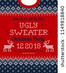 ugly sweater christmas party... | Shutterstock .eps vector #1149818840