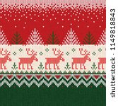 ugly sweater merry christmas... | Shutterstock .eps vector #1149818843