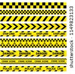 black and yellow police stripe... | Shutterstock . vector #1149823133