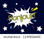 bonjour has mean hello ... | Shutterstock .eps vector #1149826640