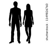 vector silhouettes man and... | Shutterstock .eps vector #1149826760