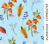 seamless pattern with autumn... | Shutterstock .eps vector #1149826769