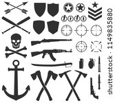 military symbols  signs and... | Shutterstock .eps vector #1149835880