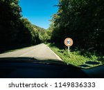 new french 80kmph speed limit... | Shutterstock . vector #1149836333