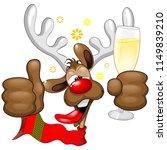 reindeer drunk funny christmas... | Shutterstock .eps vector #1149839210