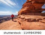 hiker in canyonlands national... | Shutterstock . vector #1149843980