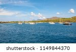 yachts at the vulcano island ... | Shutterstock . vector #1149844370