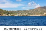 lipari town seen from the sea ... | Shutterstock . vector #1149844376