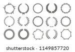 vector laurel wreaths on white...   Shutterstock .eps vector #1149857720