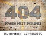 dead link concept image over an ... | Shutterstock . vector #1149860990