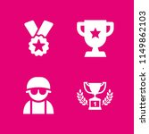 honor icon. 4 honor set with... | Shutterstock .eps vector #1149862103