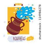 aquarius zodiac sign | Shutterstock .eps vector #114986278