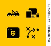 4 internet icons in vector set. ...