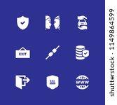 9 password icons in vector set. ... | Shutterstock .eps vector #1149864599