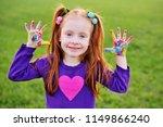 red haired girl preschooler... | Shutterstock . vector #1149866240